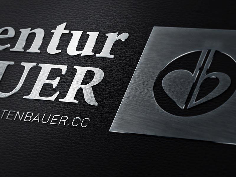 Logoentwicklung für die Künstleragentur FICHTENBAUER aus Friedburg.