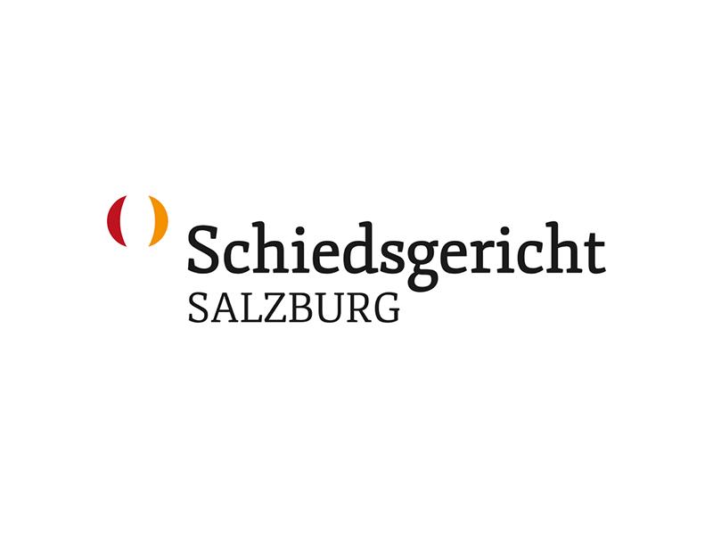 Logoentwicklung für das Schiedsgericht Salzburg.