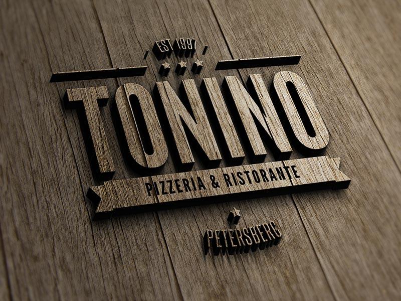 Logoentwicklung für die Pizzeria Tonino aus Deutschland.