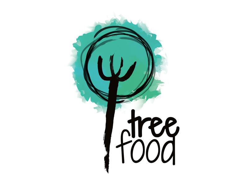 Logoentwicklung für treefood - das Präsentationskonzept.