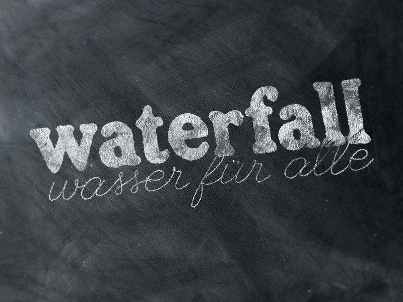 Logoentwicklung für WATERFALL.