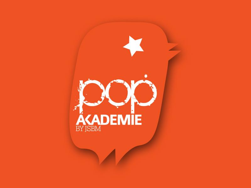 Logoentwicklung für die POP AKADEMIE WIEN - den Popularzweig der Johann Sebastian Bach Musikschule.