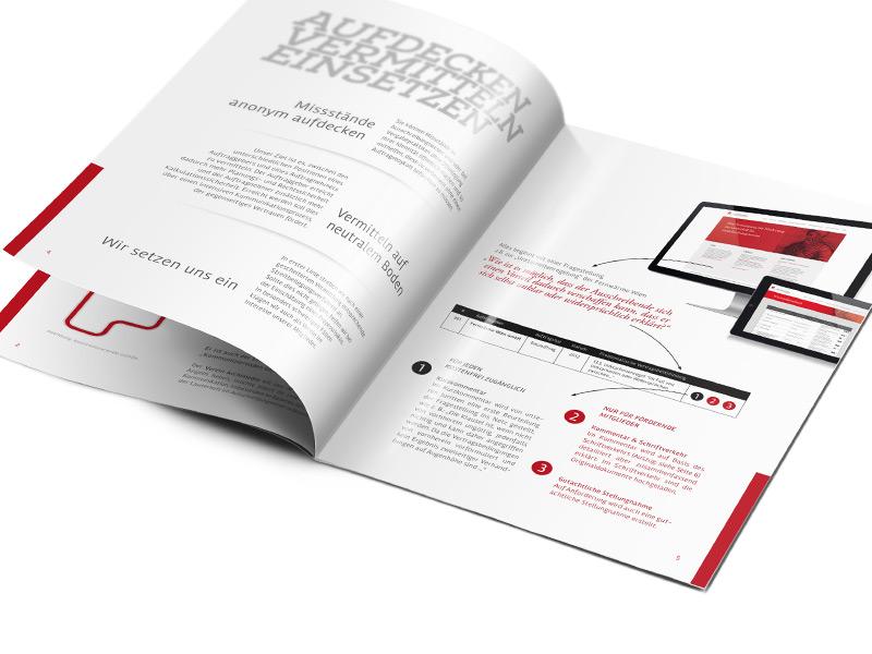 Gestaltung und Konzeption der Informationsbroschüre für den Verein Archimedes.