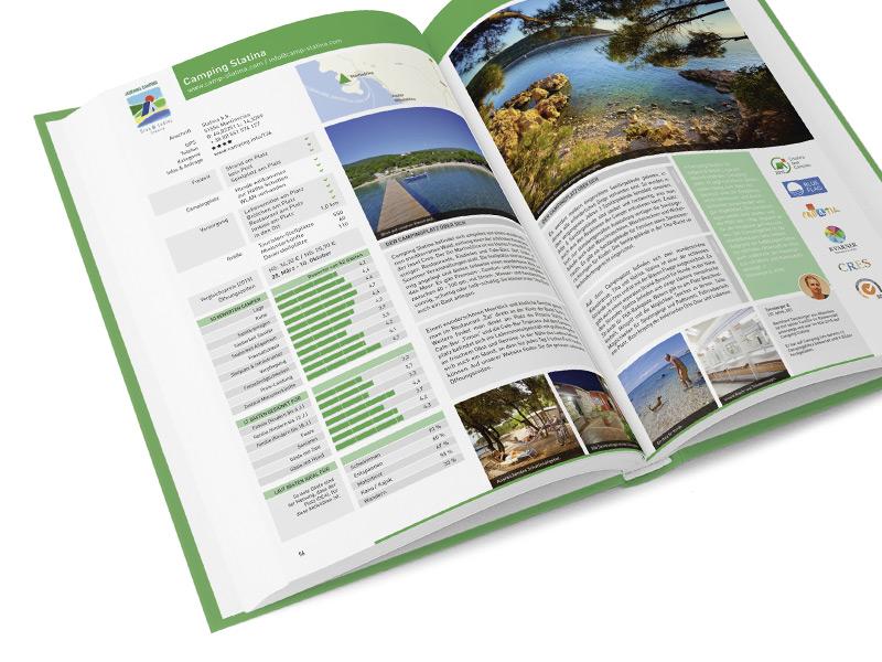 Gestaltung und Konzeption des Kern für den gedruckten Camping-Führer von Camping.Info.