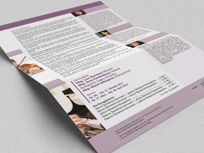 Gestaltung des Flyers für die Razumovsky Musik Akademie Wien.