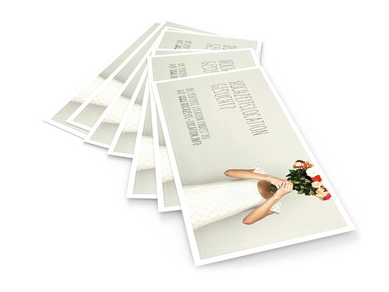 Gestaltung der Flyer für yomo und hochzeits-location.info