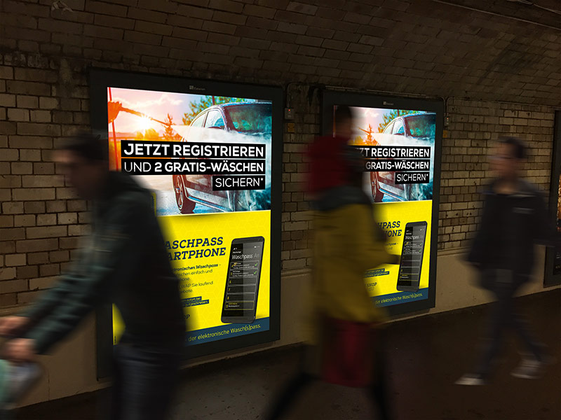 Gestaltung der Plakatwerbung von ELWAP - dem elektronischen Sammelpass.