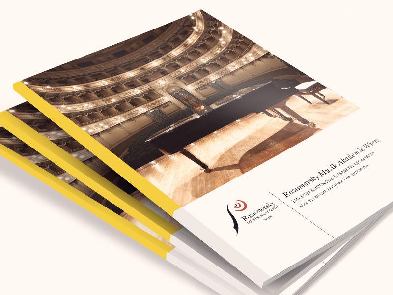 Gestaltung der Informationsbroschüre der Razumovsky Musik Akademie Wien