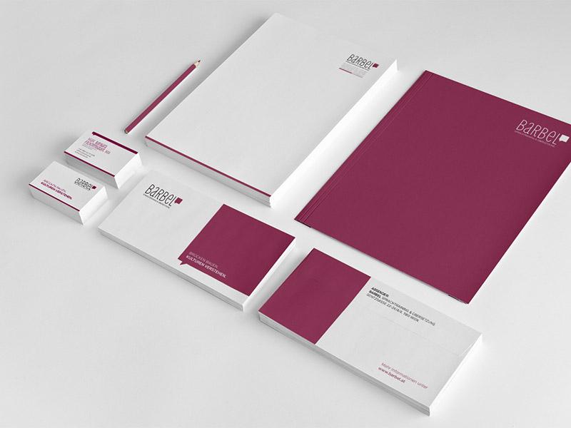 Gestaltung der Corporate Design Linie von BARBEL SPRACHTRAINING