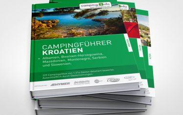 Booklet und Inlay Gestaltung für den Campingführer von Camping.Info