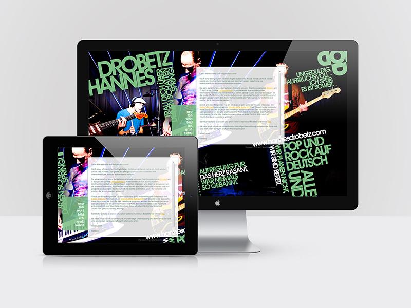 Webdesign für den Künstler Hannes Drobetz - hannesdrobetz.com