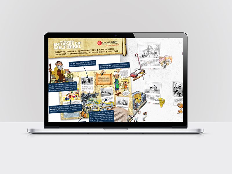 Programmierung eines Onlinequiz für Kirche in Not.