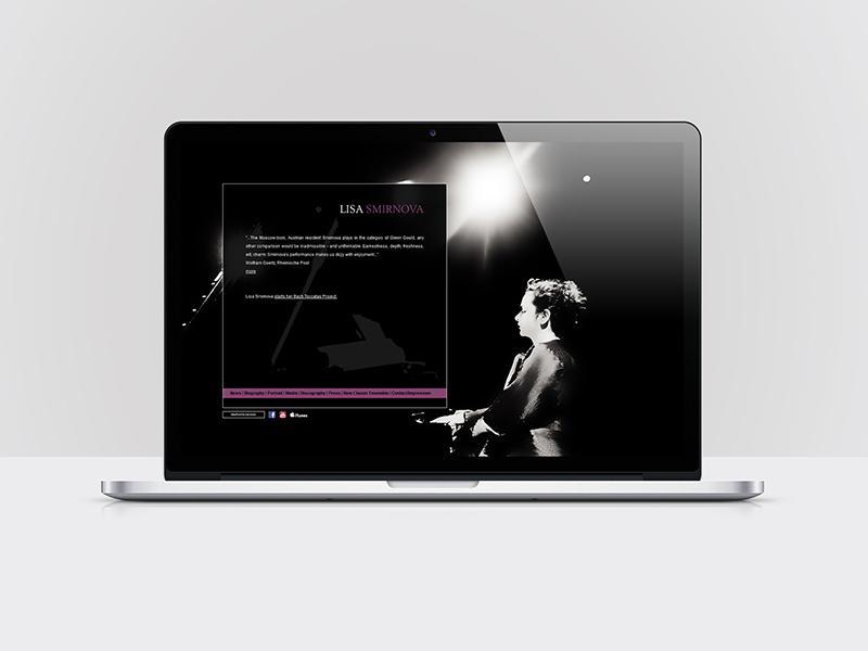 Webdesign für die Künstlerin LISA SMIRNOVA - lisasmirnova.com