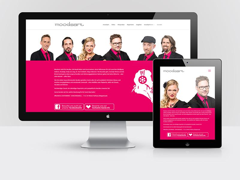 Webdesign für die Band moodsart - moodsart.eu
