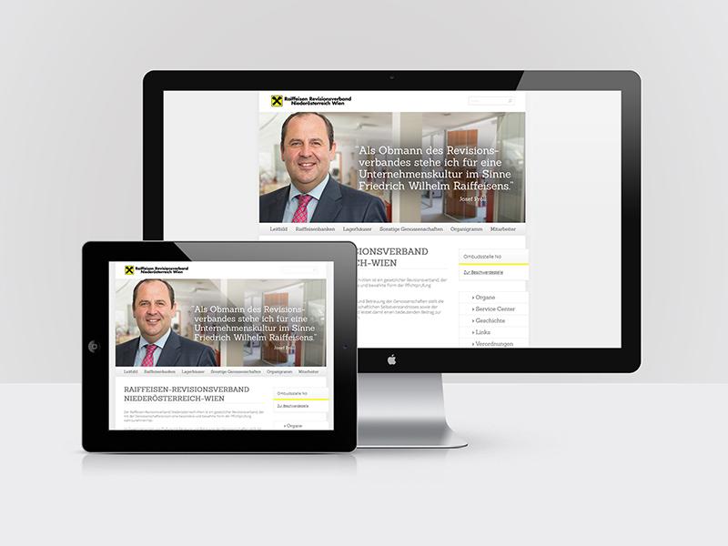 Webdesign für den Raiffeisen-Revisionsverband Wien/Niederösterreich