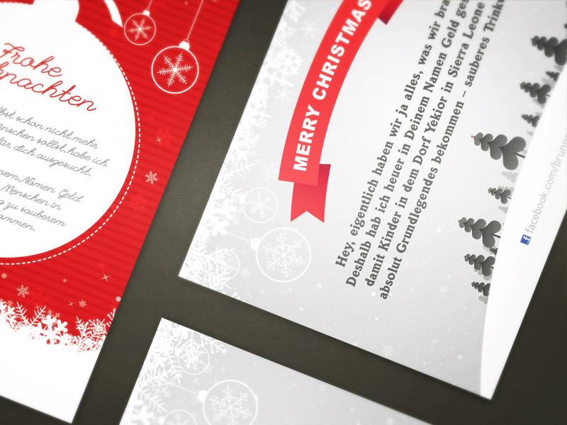 Weihnachtskarten Gestaltung für WATERFALL