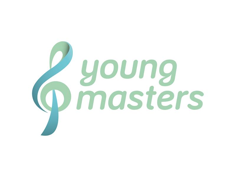 Logoentwicklung YOUNG MASTERS der Begabtenförderung der Universität für Musik und darstellende Kunst Wien