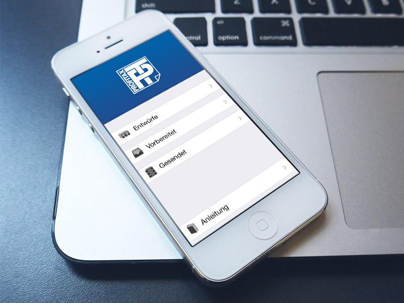 Gestaltung der Icons für die neue profitax-APP