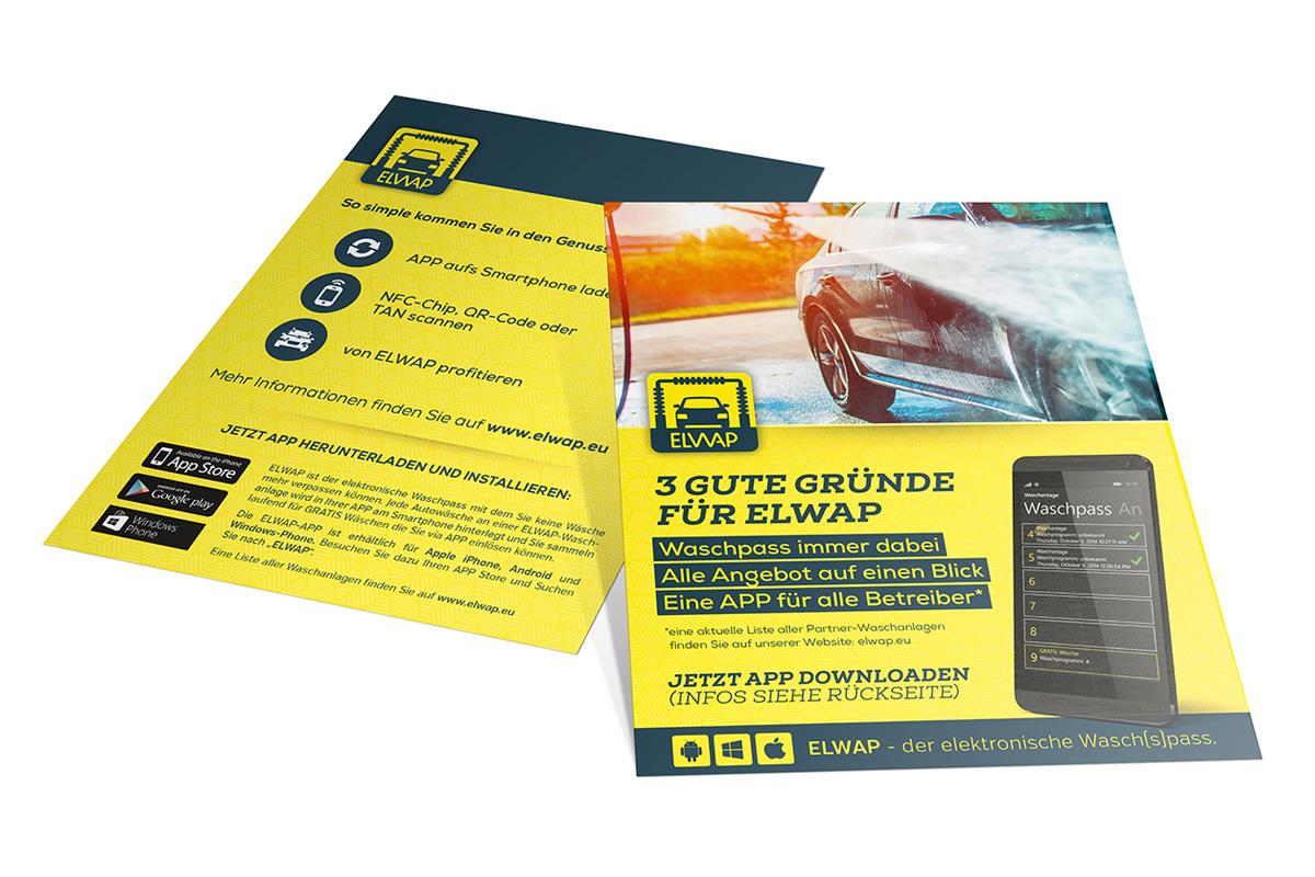 Flyer für die Tankstellen zur Erklärung von ELWAP - dem elektronischen Sammelpass