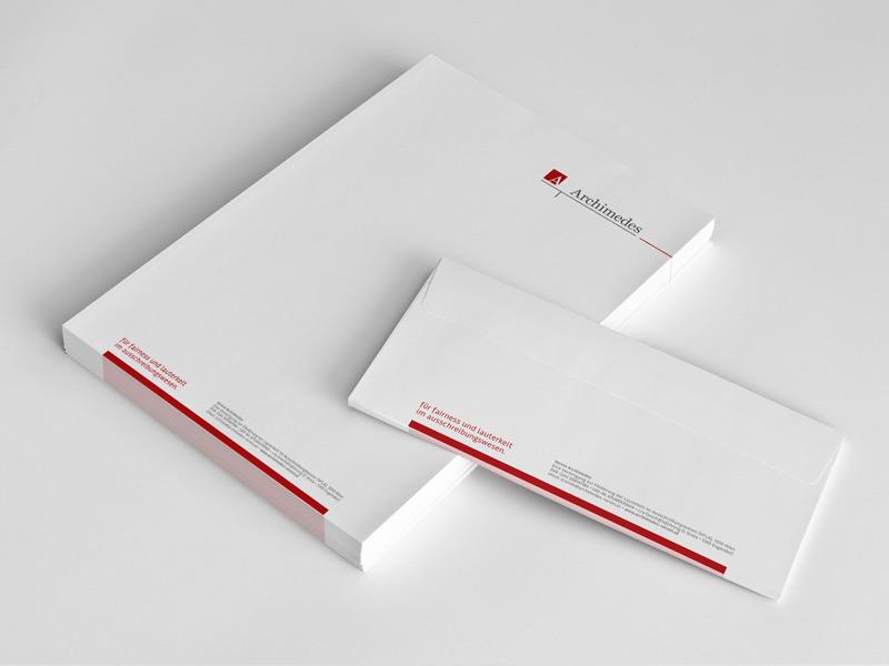 Gestaltung der Drucksorten für den Verein Archimedes.