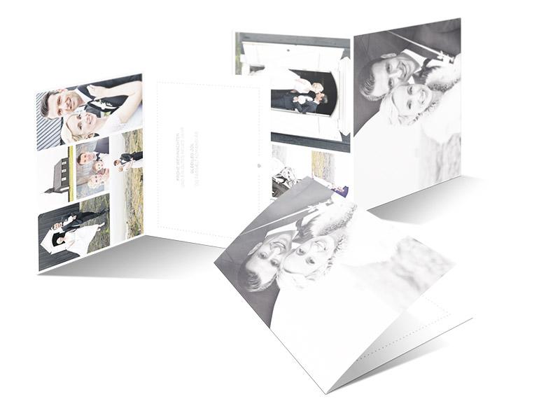 Gestaltung der Dankeskarten für Berglind und Christopher