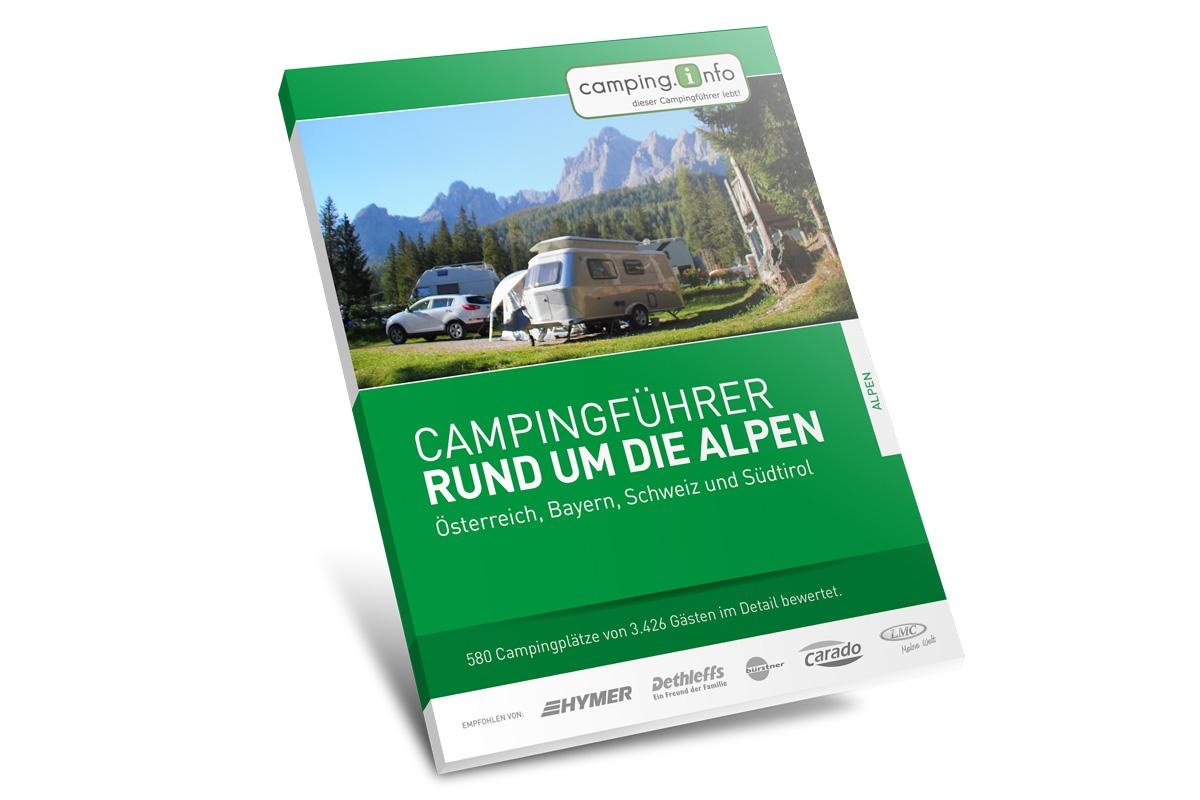 Gestaltung eines einheitlichen Covers für alle Bände des gedruckten Campingführers von Camping.Info