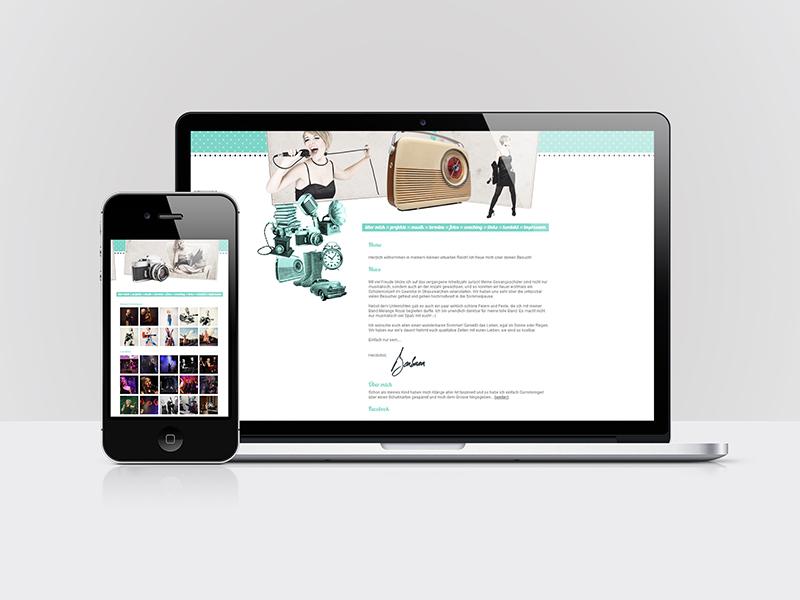 Webdesign und Programmierung für die Website der Sängerin Barbara Fichtenbauer (barbarafichtenbauer.at)