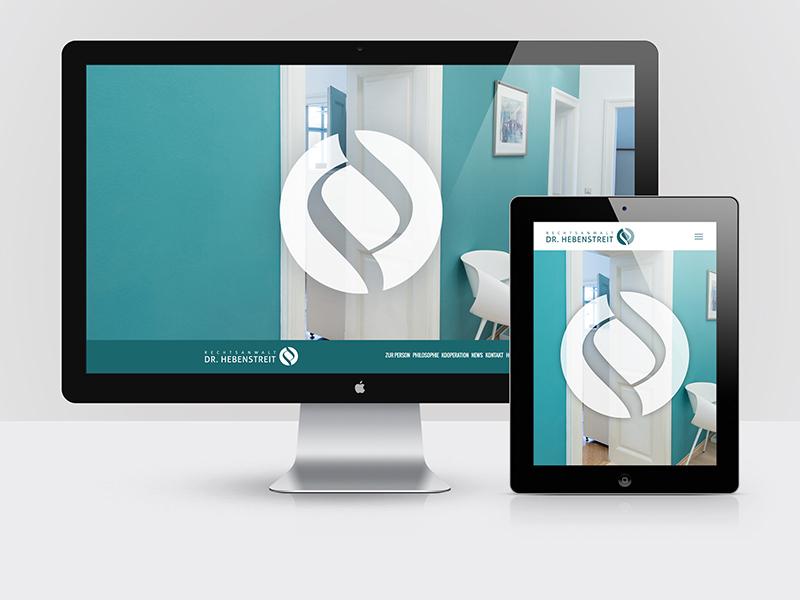 Webdesign für den Salzburger Rechtsanwalt Dr. Johannes Hebenstreit.