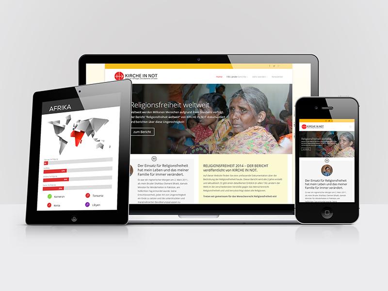 Webdesign für Kirche in Not / Wien