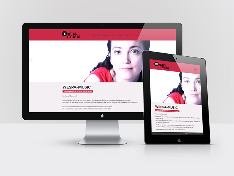 Webdesign WESPA MUSIC